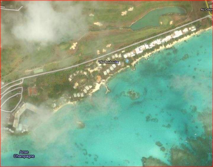 """Vue aérienne de la villa en Guadeloupe """" Villa Boubou"""""""