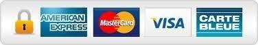 Paiement sécurisé AMEX (Américan Express) VISA, CB, Mastercard