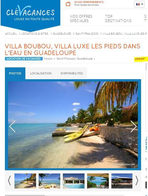 Clévacances 5 clés pour la Villa Boubou en Guadeloupe