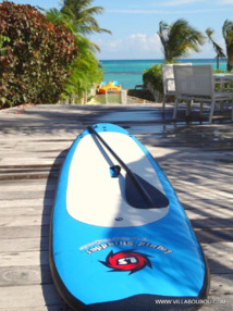 Le Paddle vous attend sur la terrasse de la Villa devant la lagon de Guadeloupe (cliquez pour agrandir)