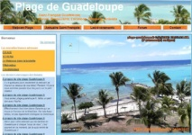 "Site officiel de la webcam de ""Plage Guadeloupe"" de Savannah en Guadeloupe"