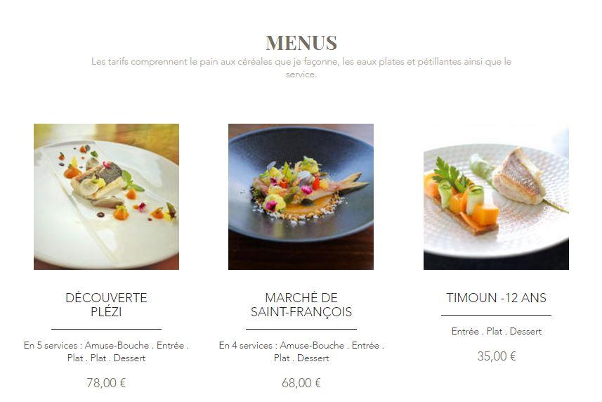 Exemple de menu