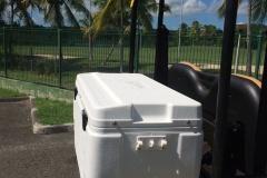 Coffre glacière de la voiture électrique de Villa Boubou